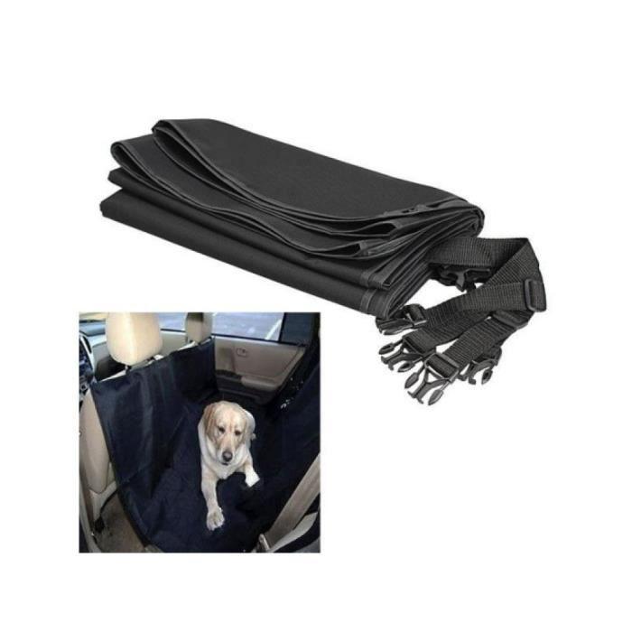 Couverture de protection voiture chien chat noir Housse siege banquette GUIZMAX