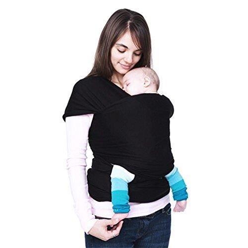 Écharpe Porte-bébé Écharpe de Portage Élégant Comfortable pour baby 0-2 ans - Noir