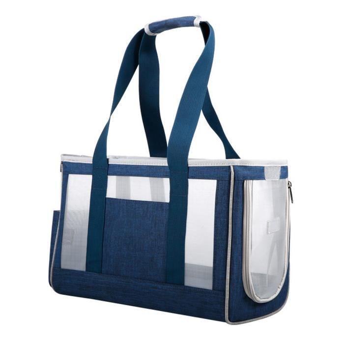 Sac de porte-animal sac respirant chat portable sac à main pochette pour animaux de compagnie pour chien chiot bleu l