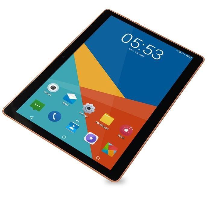 10.1 pouces pour Android 8.1 Tablet PC en plastique 1 + 16G Tablette WIFI à dix cœurs 13.0MP Caméra