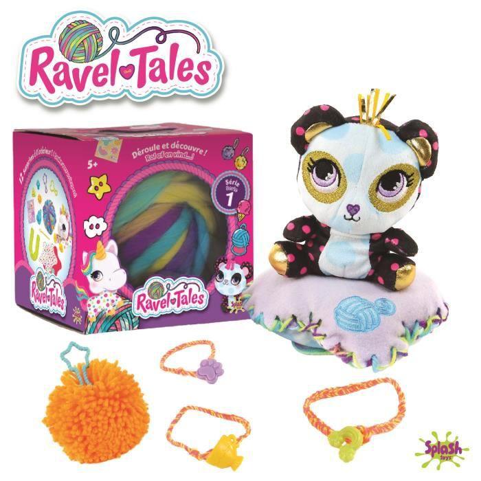 Ravel Tales - Boule de laine et peluche surprise à personnaliser + accessoires - modèle aléatoire