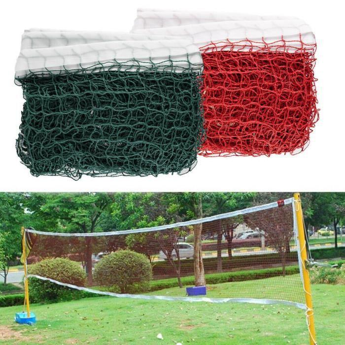 TEMPSA 6.1mX0.75m Filet De Tennis Standard Badminton Filet Extérieur Maille Volley-ball Exercice Rouge