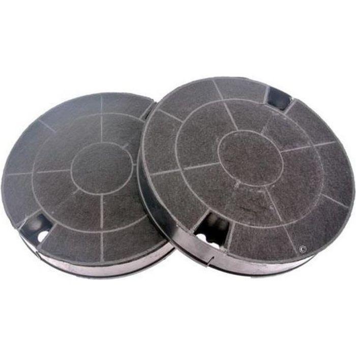 Lot de 2 filtres charbon type 29 CHF029 (91929-801) - Hotte - WHIRLPOOL, IKEA WHIRLPOOL, BAUKNECHT, ARISTON HOTPOINT, INDESIT,