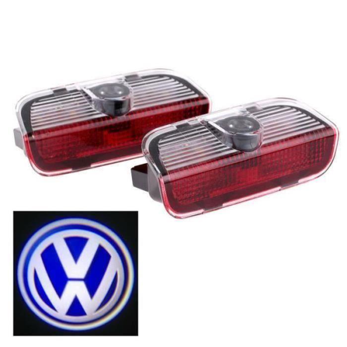 GM11420-2pcs porte de voiture de LED Voyant bienvenue Logo projecteur Pour VW Passat B6 B7 CC Golf 6 7 Jetta MK5 MK6 Tiguan Sciroc