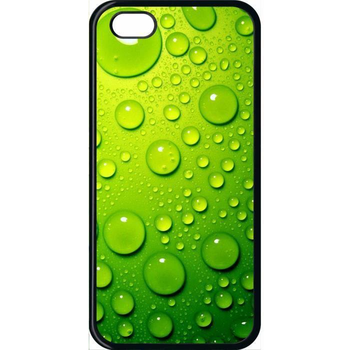 coque compatible apple iphone 5c goutte d eau vert