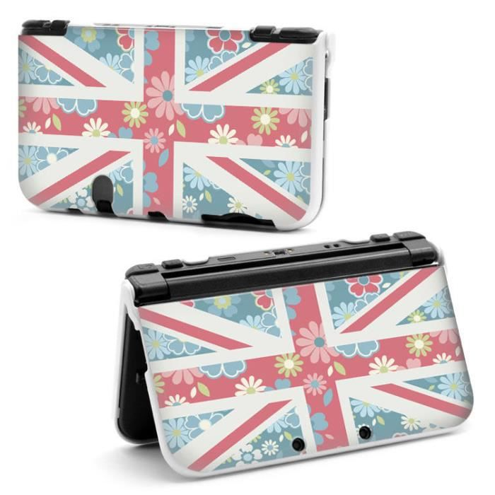 Coque housse 3ds xl drapeau uk fleur liberty vintage for Housse 3ds xl pokemon