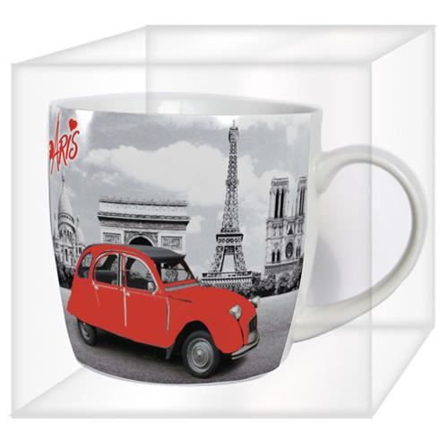 mug paris 2 cv achat vente bol mug mazagran cdiscount. Black Bedroom Furniture Sets. Home Design Ideas