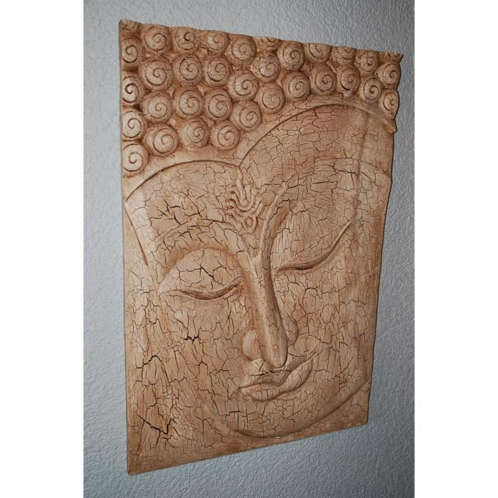 d coration murale visage bouddha relief tableau. Black Bedroom Furniture Sets. Home Design Ideas