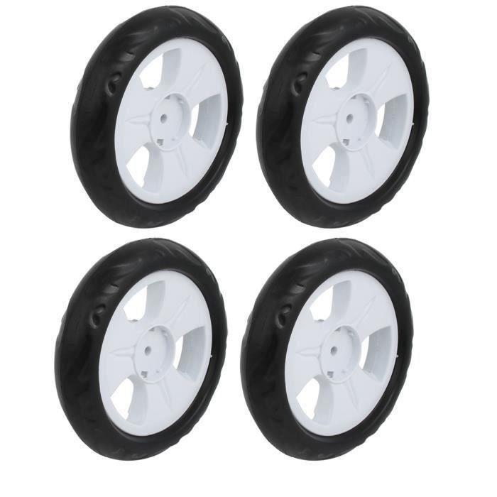 4pcs 140mm diam/ètre roue simple poulie plastique poussette roulant blanc rouleau 6x22mm