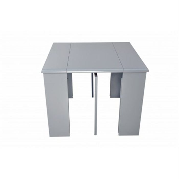 Table console extensible laura grise achat vente console table console ex - Cdiscount console extensible ...