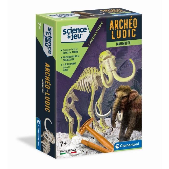 EXPÉRIENCE SCIENTIFIQUE CLEMENTONI Archéo Ludic - Mammouth Phosphorescent