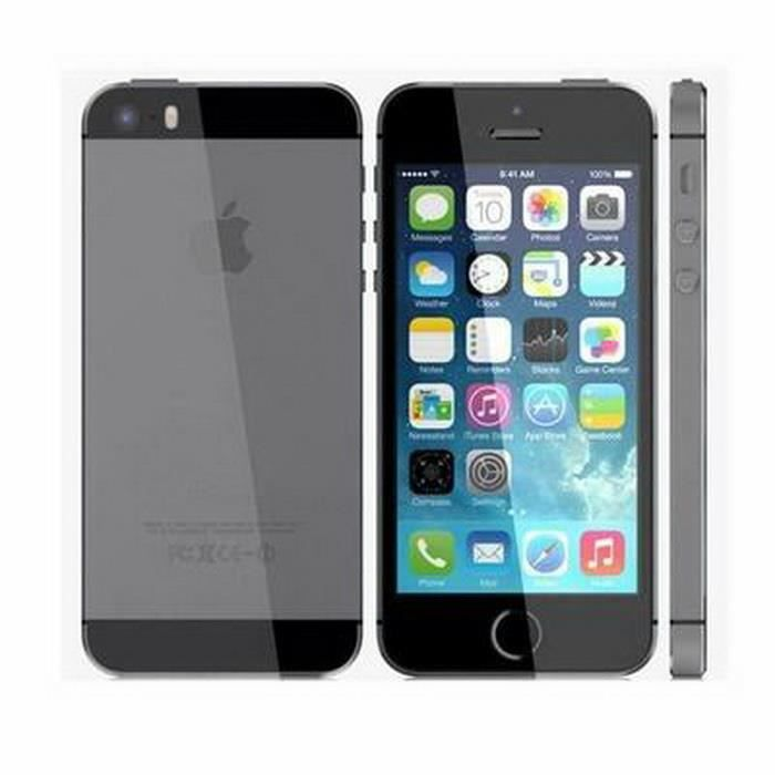 apple iphone 5s smartphone t l phone portable 4g gris 32g achat smartphone pas cher avis et. Black Bedroom Furniture Sets. Home Design Ideas