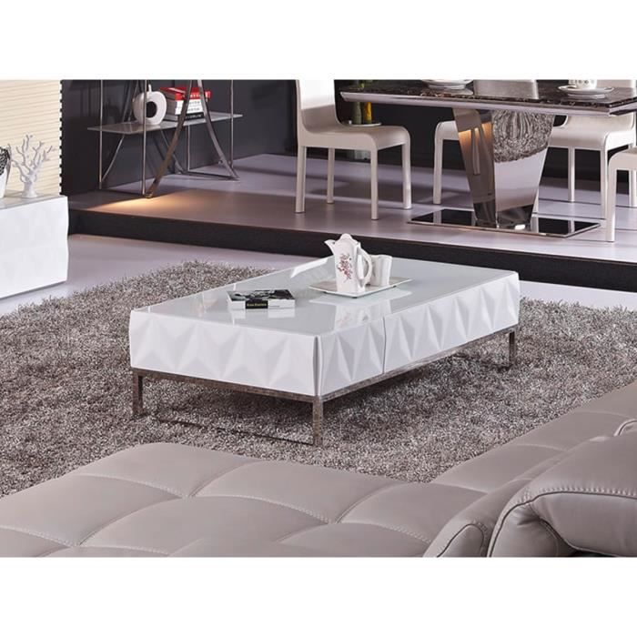 table basse laqu e petra blanc achat vente table. Black Bedroom Furniture Sets. Home Design Ideas