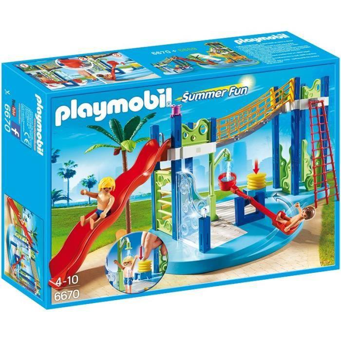 UNIVERS MINIATURE PLAYMOBIL Summer Fun 6670 - Aire de jeux aquatique
