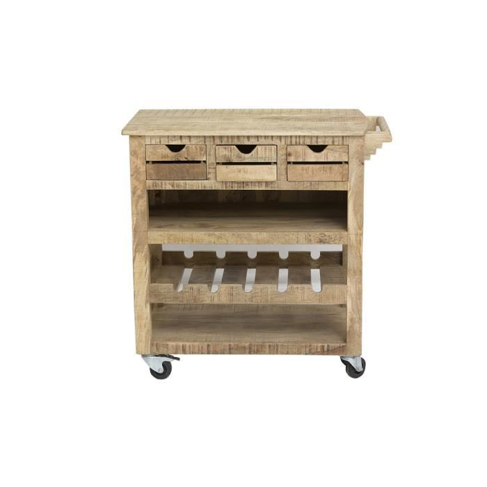 Table de cuisine swithome frigo bois naturel achat - Table en bois naturel ...