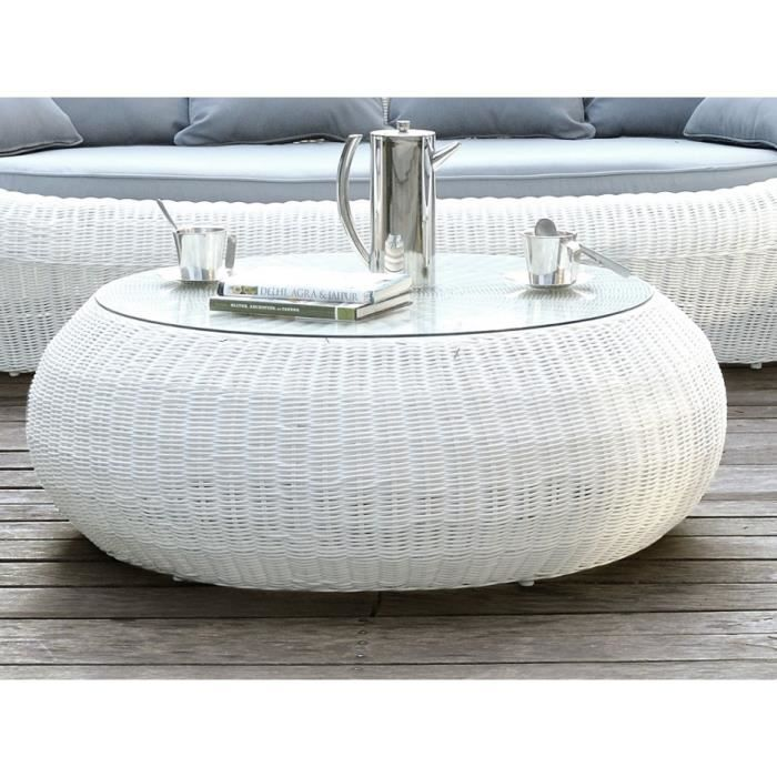 Table basse de jardin whiteheaven en r sine tress e for Table basse jardin resine tressee