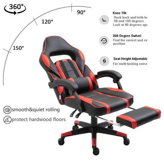 Pleasing Gaming Chair Avec Repose Pied Ergonomique Fauteuil Gamer Lamtechconsult Wood Chair Design Ideas Lamtechconsultcom