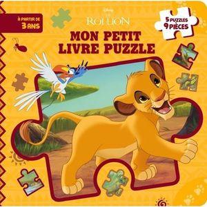 Livre 3-6 ANS Le roi Lion, mon petit livre puzzle