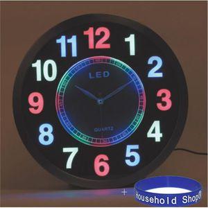 horloge murale lumineuse led. Black Bedroom Furniture Sets. Home Design Ideas