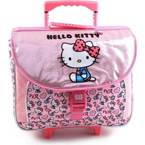 CARTABLE Cartable à roulettes Hello Kitty Glitter 41 CM Hau
