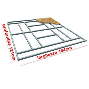 ABRI JARDIN - CHALET Support pour plancher base Box Abri de jardin 194x