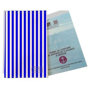 133x264 mm bleu ocean Etui PVC gomme pour carte grise