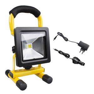 LAMPE DE CHANTIER 30W LED Blanc IP65 waterproof Projecteur LED Porta