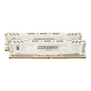 MÉMOIRE RAM Crucial Ballistix Sport LT series weiß, DDR4-3000,