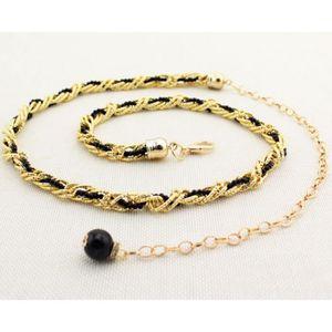 CHAINE DE TAILLE - CHAINE D'EPAULE (noir)la chaîne chaîne de pearl femmes taille fine