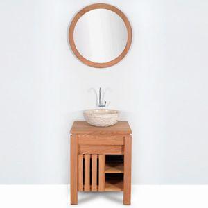 MEUBLE VASQUE - PLAN Meuble salle de bain MALACCA en teck largeur 60 cm