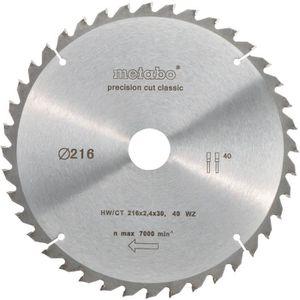 SCIE - LAME DE SCIE METABO Lame de scie circulaire Precision cut - 216
