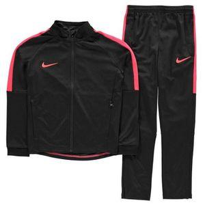SURVÊTEMENT Jogging Nike Swoosh Garcon Noir et Rouge