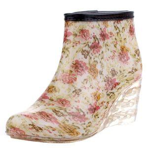 BOTTE bottes de pluie des femmes cheville haute hiver im