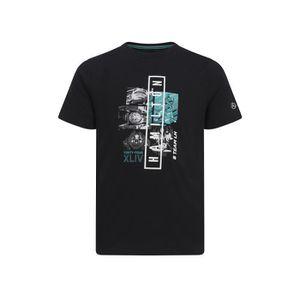 T-SHIRT T-shirt MERCEDES AMG Graphic Lewis Hamilton noir p