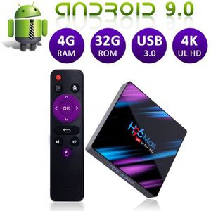 BOX MULTIMEDIA Android TV Box Android 9.0 H96 Max 4 Go 32 Go RK33