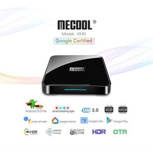 BOX MULTIMEDIA MECOOL KM3 TV Box Lecteur Multimédia Google Certif