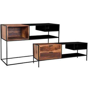 CONSOLE Ensemble console et meuble TV  Devdas