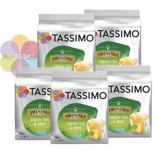 CAFÉ Offre Tassimo Twinings Thé Vert à la Menthe (x80)