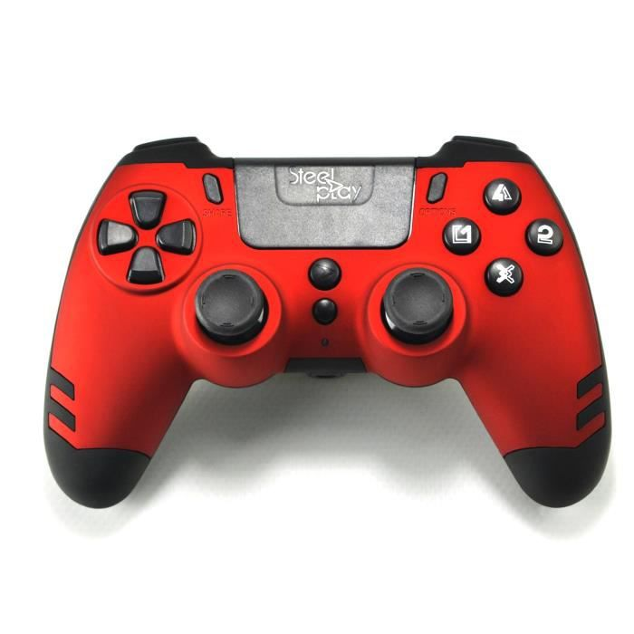 Manette sans fil SteelPlay Metaltech Rouge pour PS4
