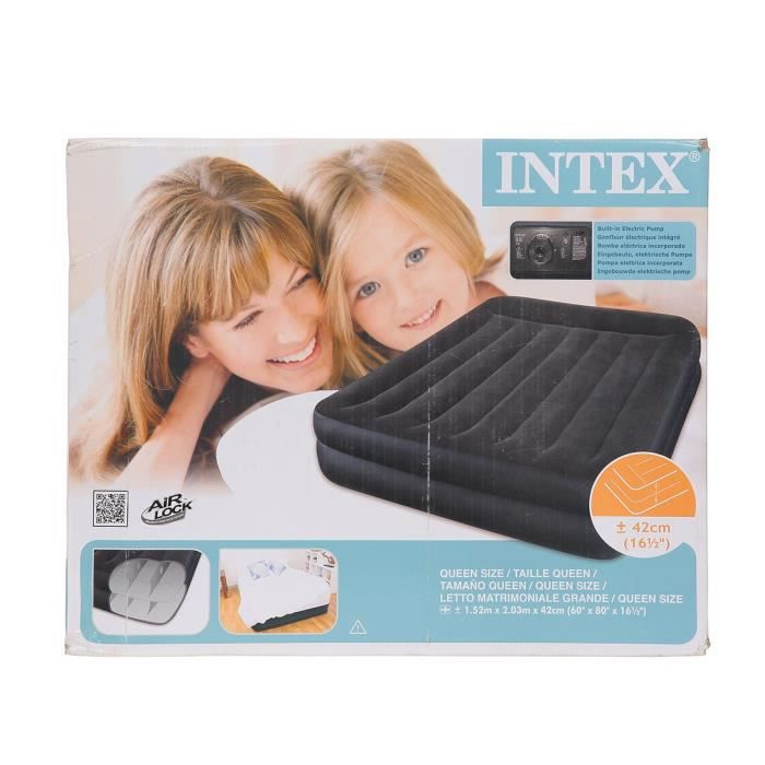 intex matelas gonflable rest bed 157x203 cm ferme 2. Black Bedroom Furniture Sets. Home Design Ideas