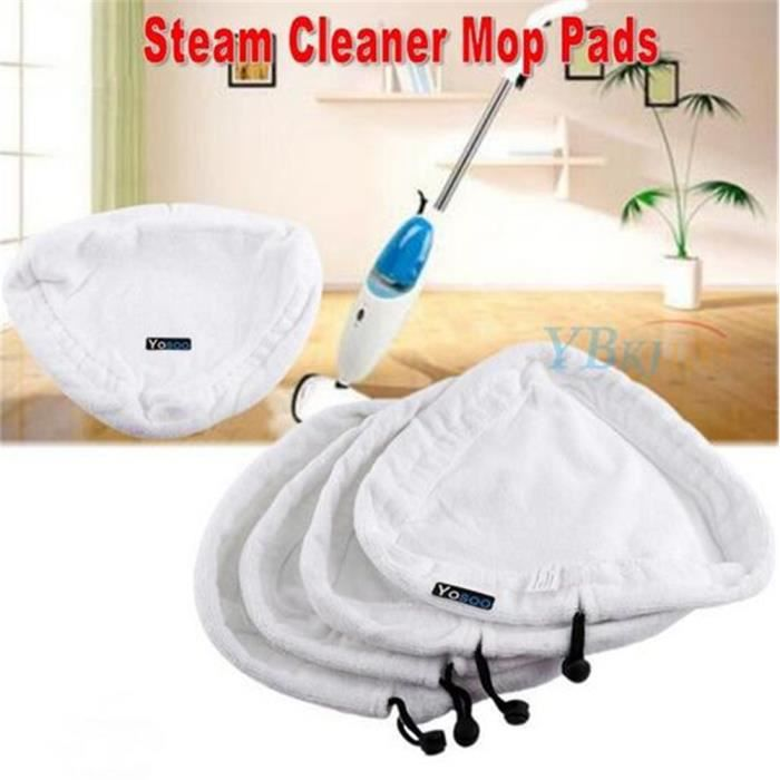 4 pcs Tapis Microfibre Mop à Vapeur pour H2O-Remplacement Propreté Lingettes pour Balais Vapeur