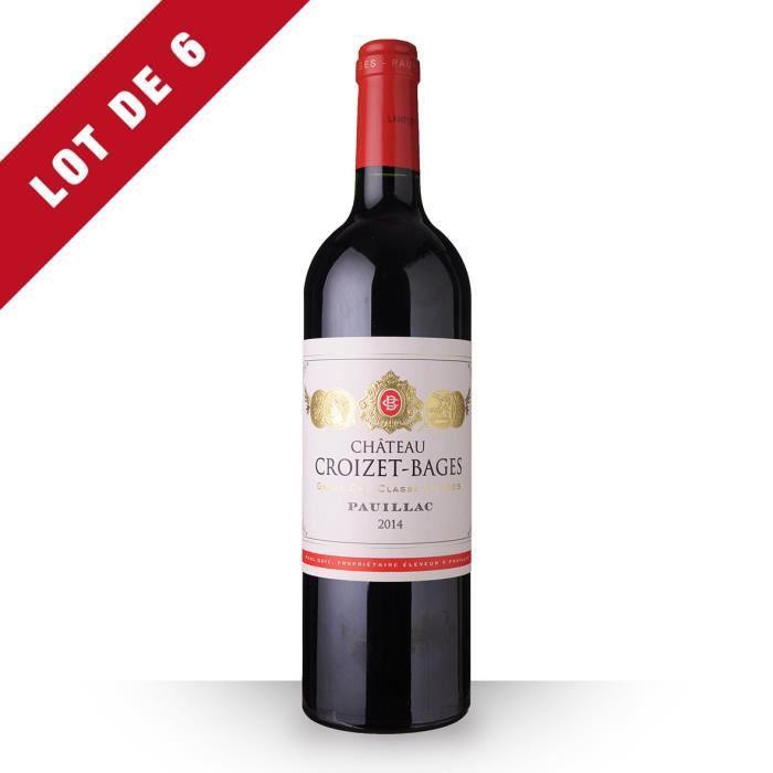 6X Château Croizet-Bages 2014 Rouge 75cl AOC Pauillac - Vin Rouge