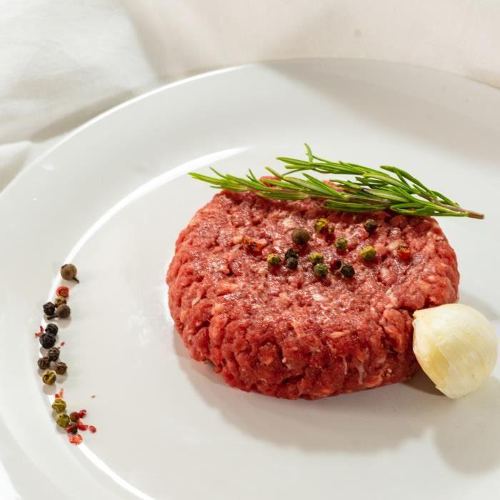 8 steaks hachés de boeuf - 4x240 g - Normandie