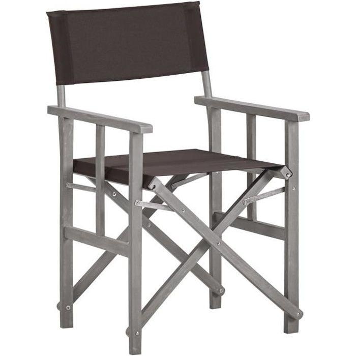 6329PARI-Chaise de jardin,Chaise d'extérieur, Chaise de metteur,Chaise de Salon,Moderne,Fauteuil Relax en scène Bois massif d'acacia