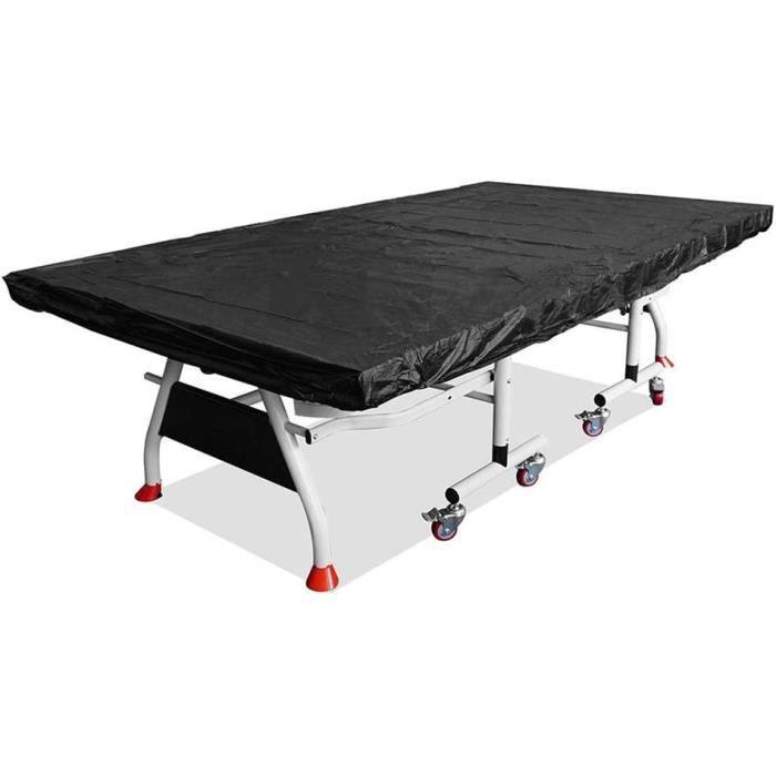 LZDseller01 Housse de Table de ping-Pong imperméable à l'eau et à la poussière pour Table de ping-Pong Noir 280 x 150 cm, Noir, A130