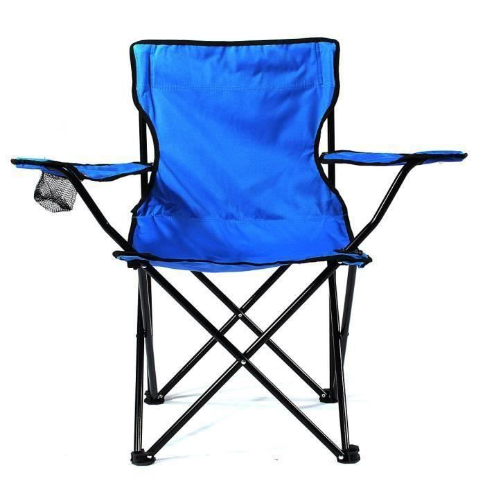 Chaise de camping pliable fauteuil de plage extérieur KING DO WAY Bleu At55198