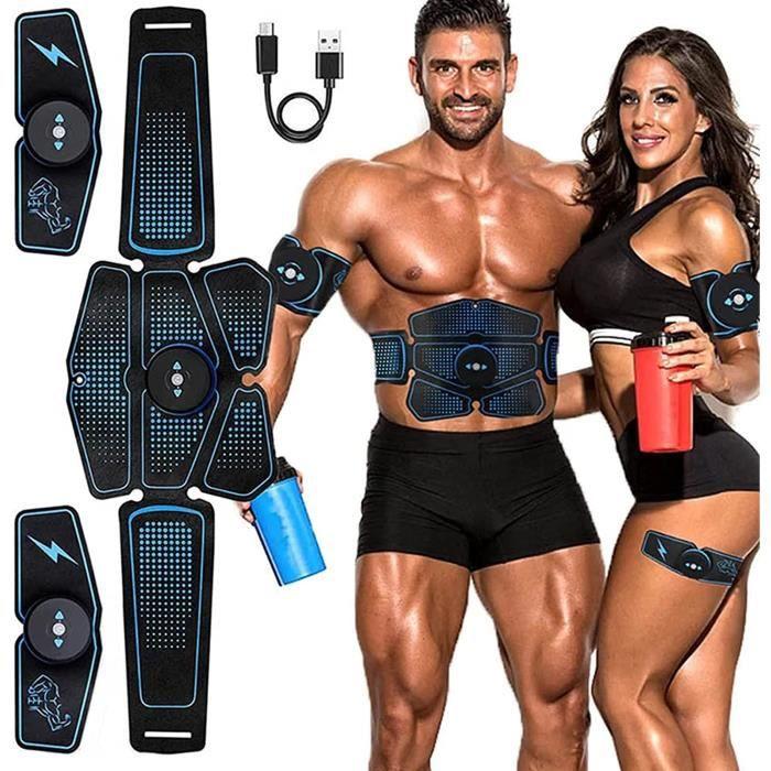 GoodWell Electrostimulateur Musculaire,Ceinture Abdominale,Stimulation Musculaire, Stimulateur Musculaire Professionnel pour Abdomin