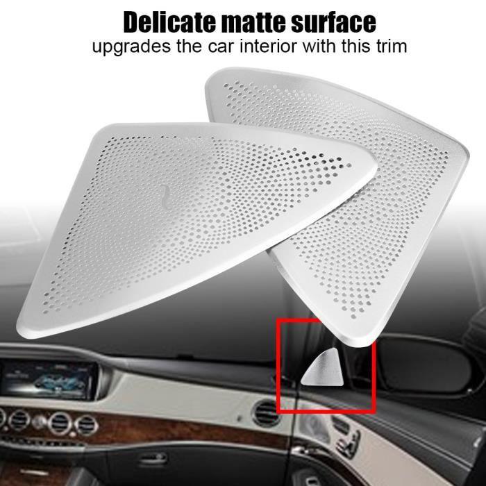 Paire De Garniture De Couvercle De Haut-Parleur Stéréo De Porte De Style Voiture Pour Mercedes Benz Classe S W222 14-17-TIP