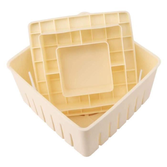 Lot Ustensiles,Qualité alimentaire en plastique Tofu presse fabricant moule en plastique maison soja caillé boîte Tofu pressage