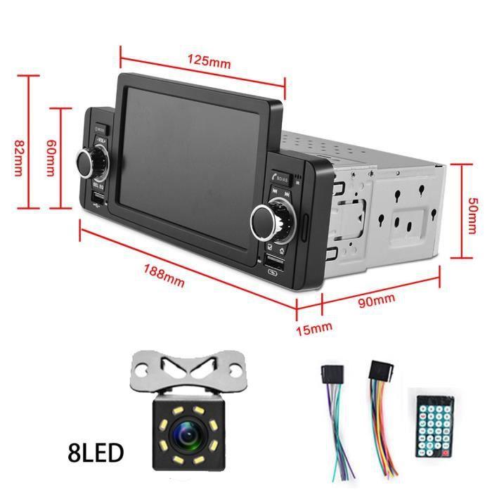 MP5-8LED Autoradio multimédia, Bluetooth, IPS, MP5, lecteur vidéo, mirrorlink, stéréo, pour VW, Hyundai, niss
